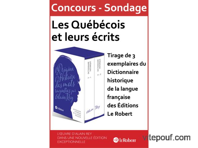 Concours - Sondage « Les Québécois et leurs écrits »