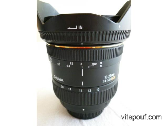 Sigma 10-20mm f 4-5.6 pour Pentax EX DC