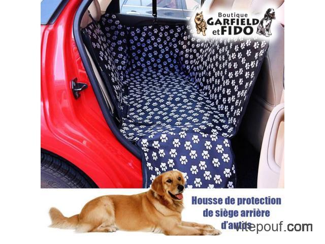 Housse de protection  de siège arrière d'autos pour chiens
