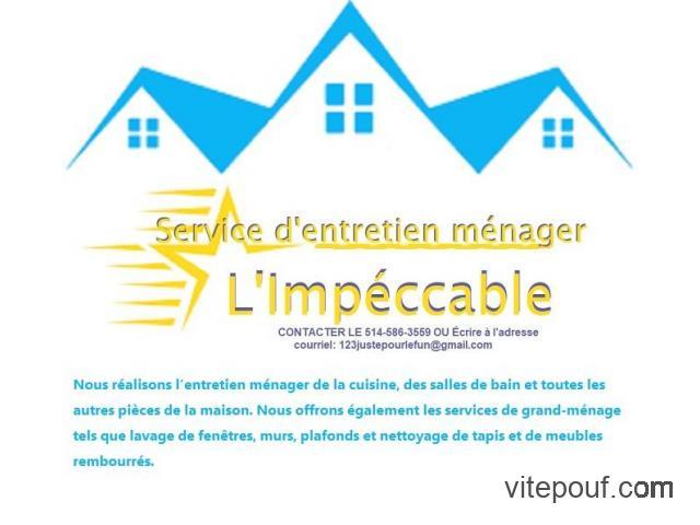 Prix  de L'Entretien ménager et de l'entretien paysager à partir de 50$ selon ...