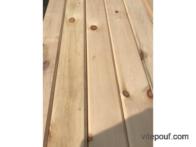 liquidation de bois , cerisier érable piqué, lambris et autres