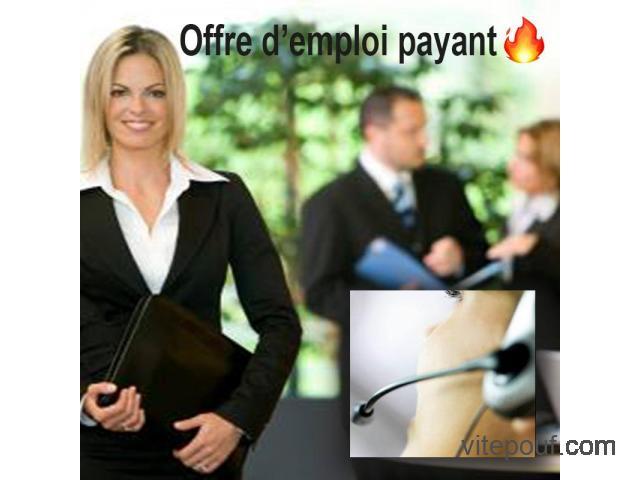 Offre d'emploi payabt - Paid work