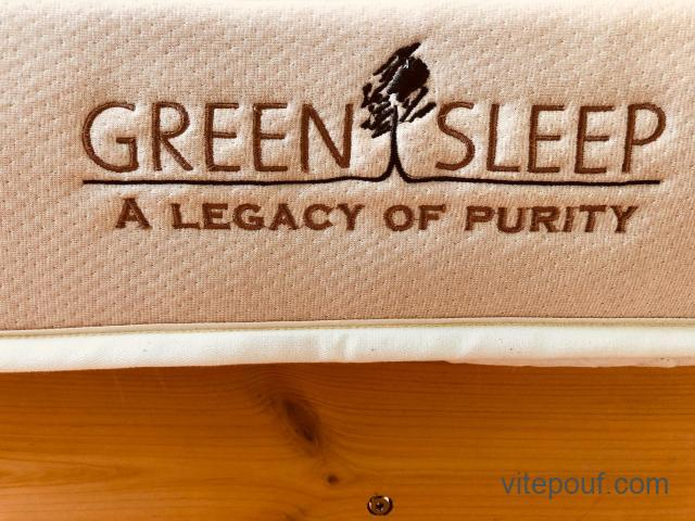 Prestigieux Matelas Queen Greensleep - 100% latex naturel  (base de lit option)