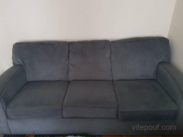 Sofa avec son pouf