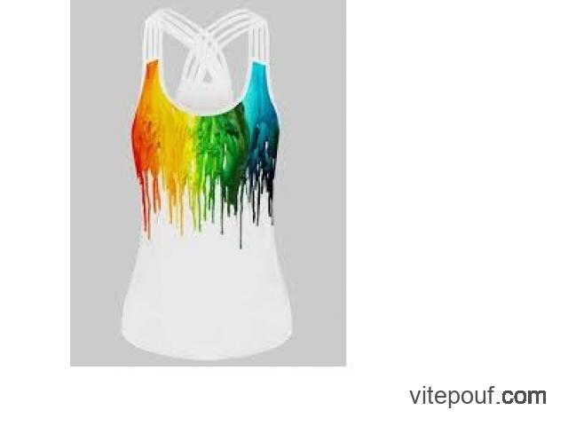 Superbe Camisole Arc en ciel/ tank rainbow 4X