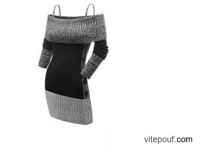 Robe moulante neuve, automne/hiver, douce, 5X