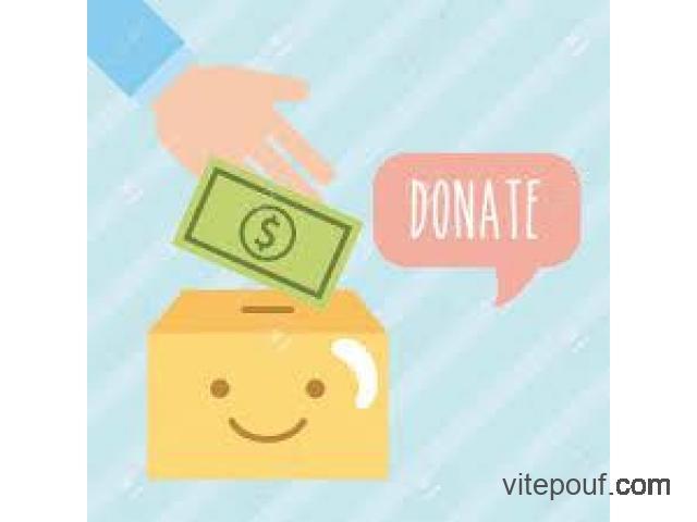 Oeuvre et aide humanitaire , don d'argent de 1.200.000 CAD