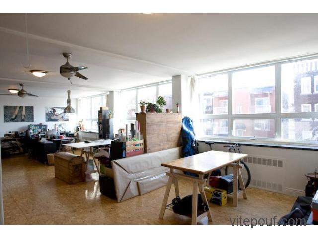loft appartement 2200 pc,split level,$2050 par mois chauffé