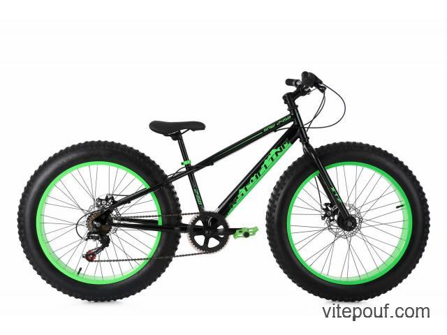 VTT Fatbike 24'' 6 Vitesses Freins à Disques