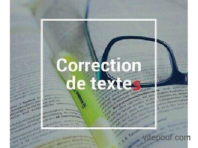 Correction de textes et aide à la dissertation