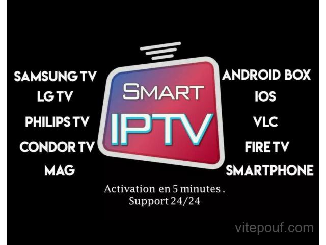 Abonnement IPTV 12 Smart Tv Samsung LG 6000 Chaînes Sport Cinéma et Vod