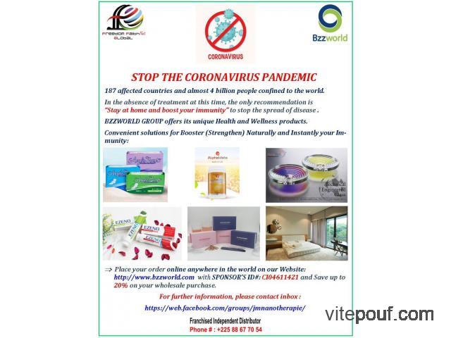 STOP THE CORONAVIRUS PANDEMIC