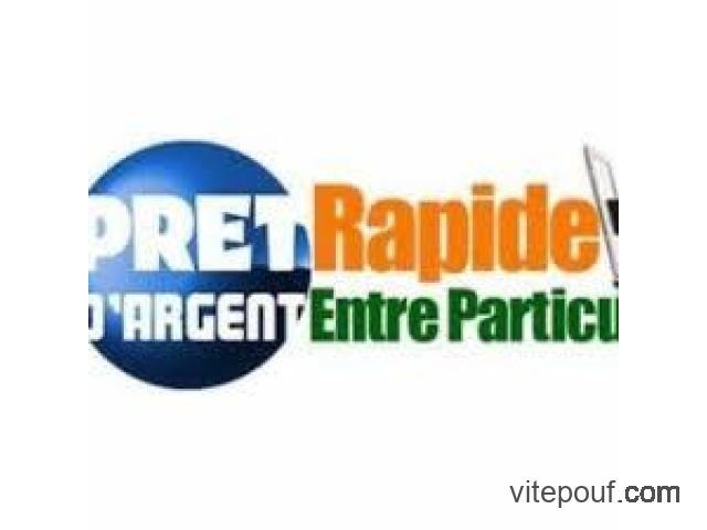 OFFRE DE PRET ENTRE PARTICULIER SERIEUX Whatsapp : +33756929764