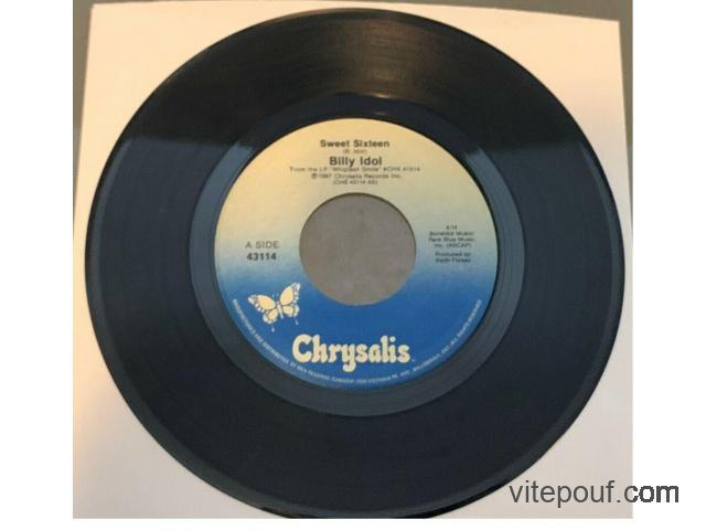 Billy Idol - Sweet Sixteen 45 vinyl record