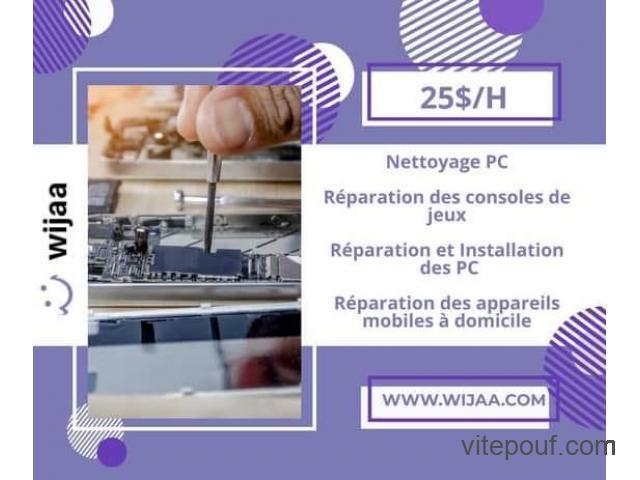 Service de réparation d`appareils électroniques à domicile
