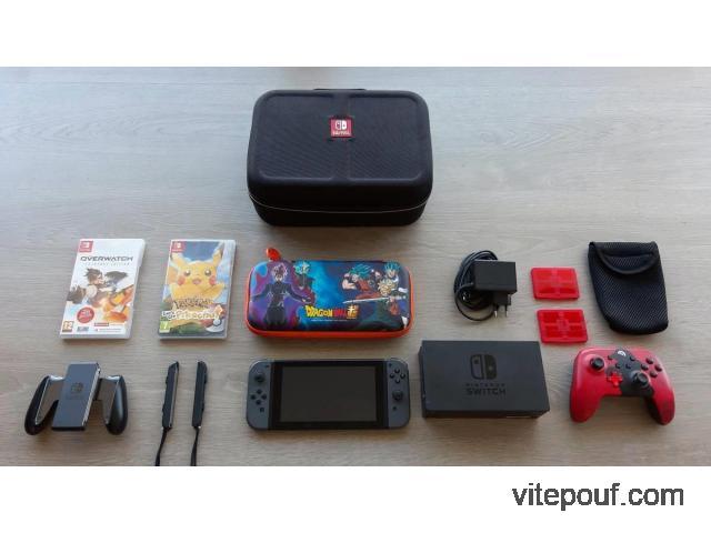 Nintendo Switch avec garantie + accessoires + jeux