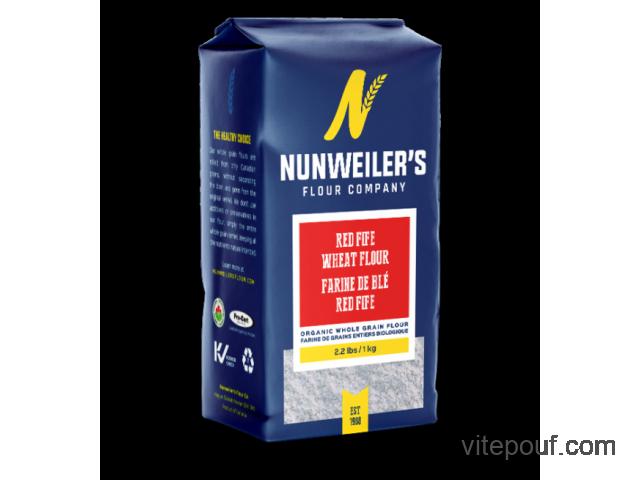 Farine Nunweiler's Biologique - Organic Flour 1 Kg - 15 sortes disponibles