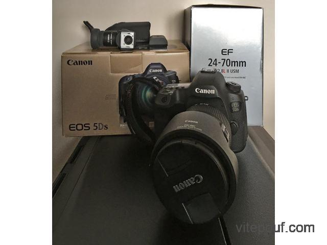Boitier Canon EOS 5Ds avec objectif Canon 24-70mm f/2,8