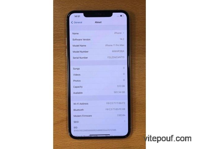 Comme neuf Apple iPhone 11 Pro Max - 256 Go-Espace Gris (Débloqué)