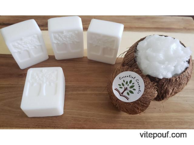 Shampoing en barre bio Savon à l'huile de coco 3 en 1