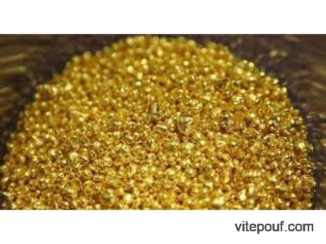 Poudre et lingot d'or