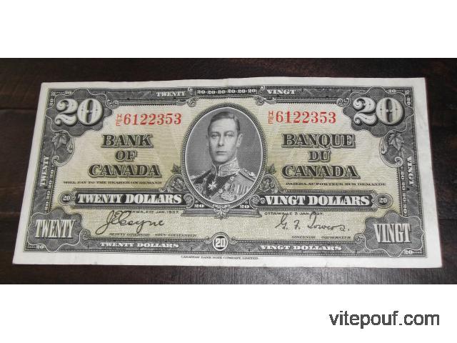 Billets de Banque Anciens du Canada